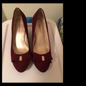 Bandolino Shoes - Bandolino Vegan Suede Burgundy Wedge Shoes 6.5